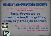 Proyectos de grado, ensayos, relatorÍas y trabajos escritos