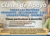 Clases estadística, física, matemáticas, macroeconomia, finanzas, química, bioquímica, contabil