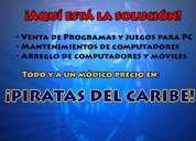Mantenimiento y venta de programas - piratas del caribe