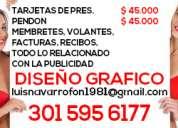 Publicidad, tarjetas de presentacion, facturas , pendones, litografia