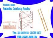 Montería, equipos de construcción cerchas, parales, secciones de andamios de tijeras