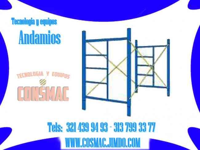 Popayán, somos fabricantes cerchas, parales, secciones de andamios de tijeras, andamios colgantes