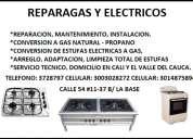 Estufas a gas. estufas electricas, cel 3003028272