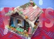 Casas de chocolate decoradas y sin decorar bogota