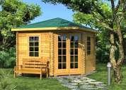 Cabañas, casas en madera fina para turismo o familiar.ver fotos.inf.3108243077